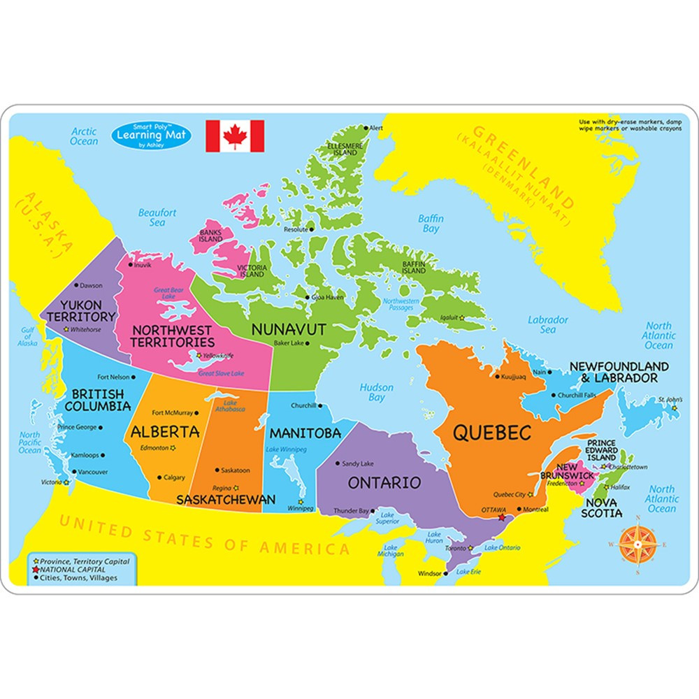 Learn Smart Canada Map Smart Poly Learning Mats, 12