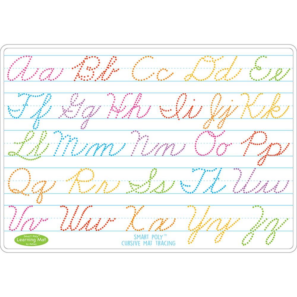 10Pk Cursive Writing Mat 2 Sided Write On Wipe Off