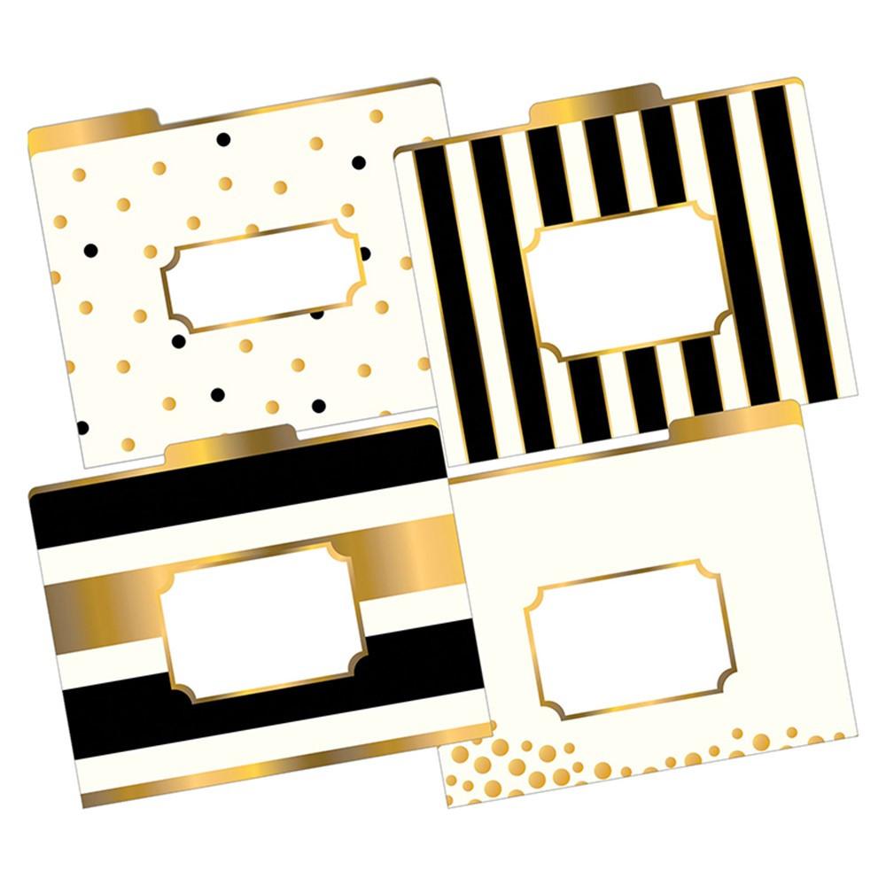 BCPLL1337 - Letter Size File Folders Gold Multi-Design Set in Folders