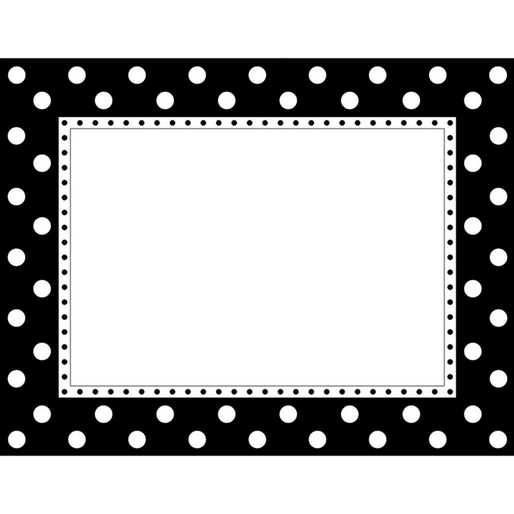 BCPLL830CH - Black & White Dot Chart in Classroom Theme