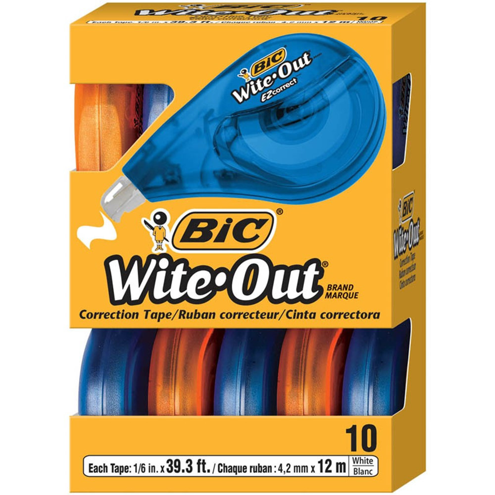 BICWOTAP10 - Bic Wite Out Ez Correct Correction Tape 10Pk in Liquid Paper