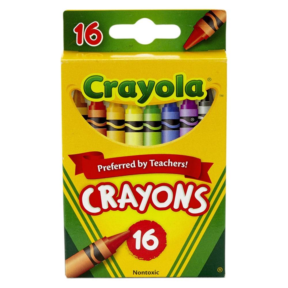 BIN16 - Crayola Regular Size Crayons 16Pk in Crayons