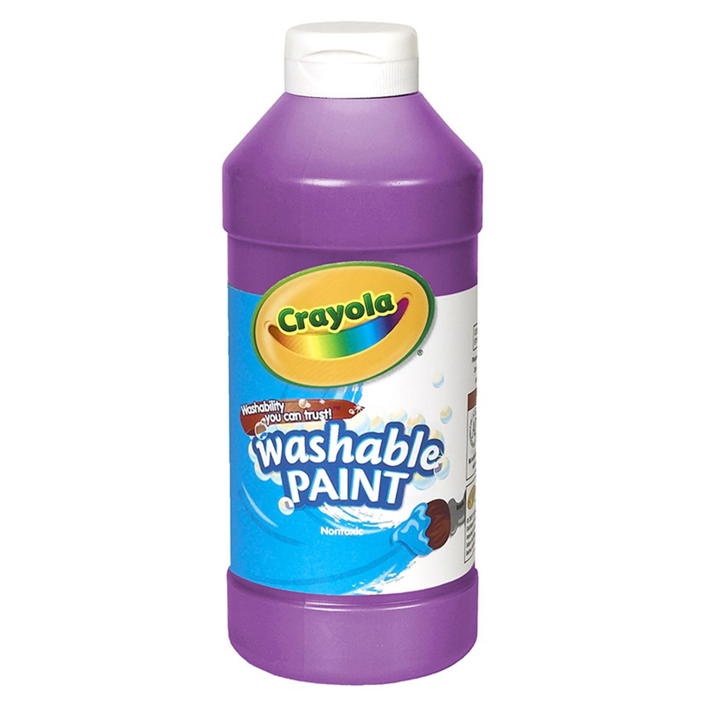 BIN201640 - Crayola Washable Paint 16Oz Violet in Paint
