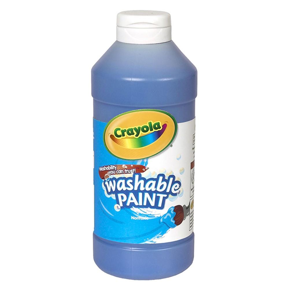 BIN201642 - Crayola Washable Paint 16 Oz Blue in Paint