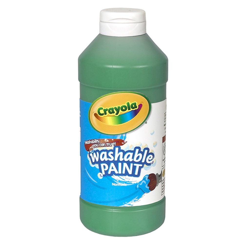 BIN201644 - Crayola Washable Paint 16 Oz Green in Paint