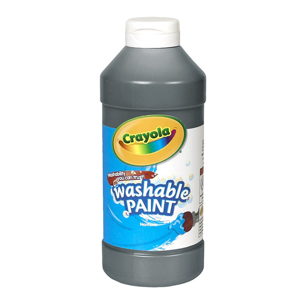 BIN201651 - Crayola Washable Paint 16 Oz Black in Paint