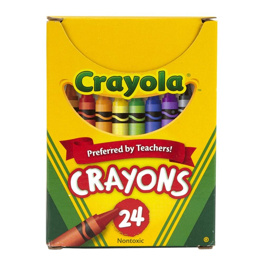 BIN24 - Crayola Regular Size Crayon 24Pk in Crayons