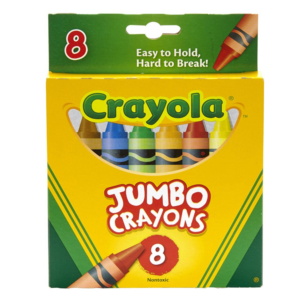 BIN389 - Crayons Jumbo 8Ct Peggable Tuck Box in Crayons