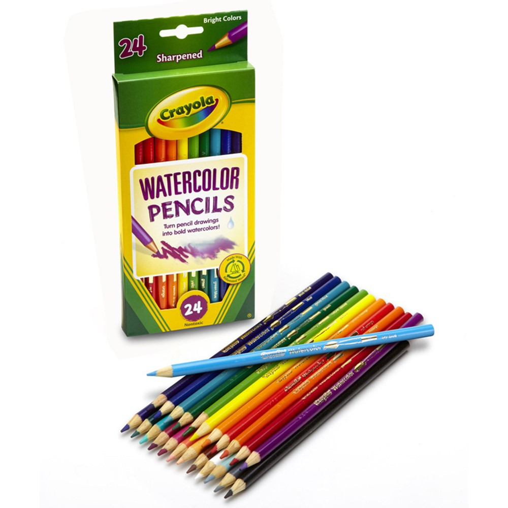 BIN4304 - Crayola Watercolor Pencils 24 Color in Colored Pencils