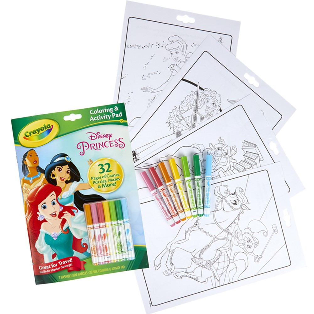 Coloring & Activity Pad with Markers, Disney Princess