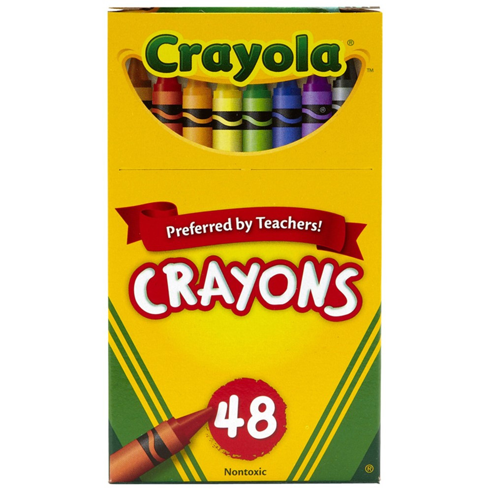 BIN48 - Crayola Regular Size Crayon 48Pk in Crayons