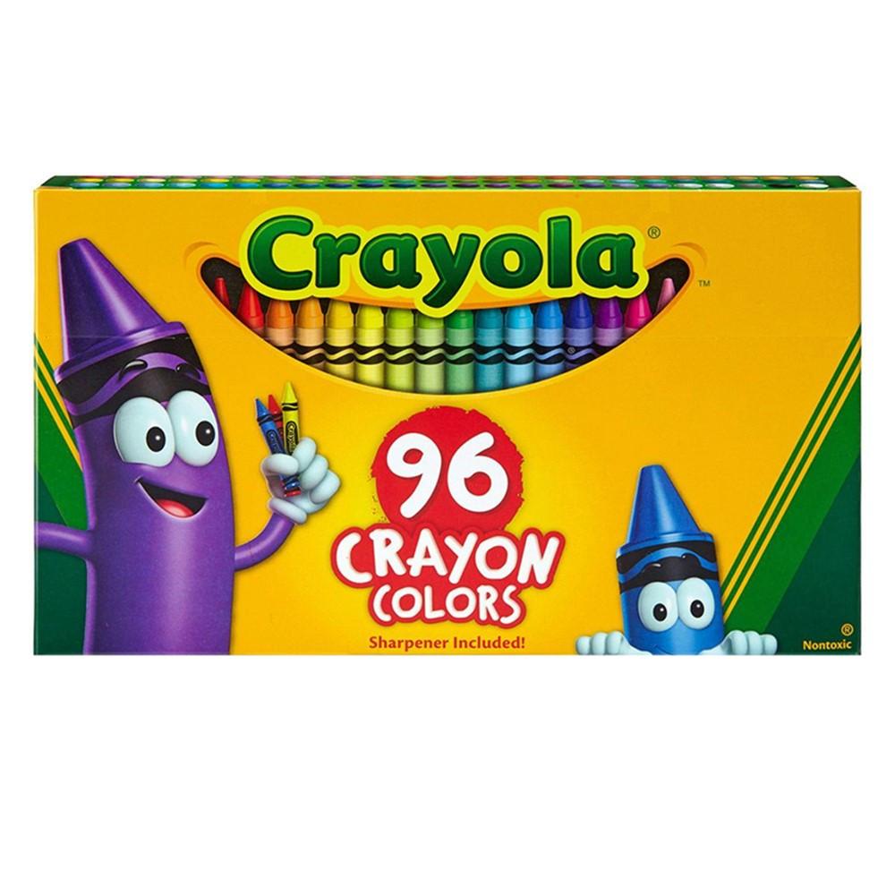 BIN520096 - Crayola 96Ct Crayons Hinged Top Box in Crayons