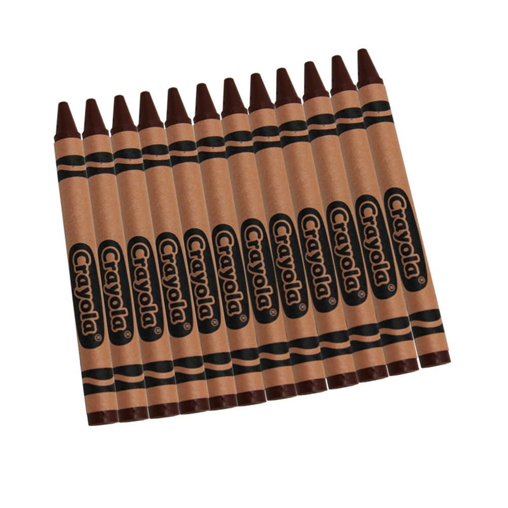 BIN520836007 - Crayola Bulk Crayons 12 Count Brown in Crayons