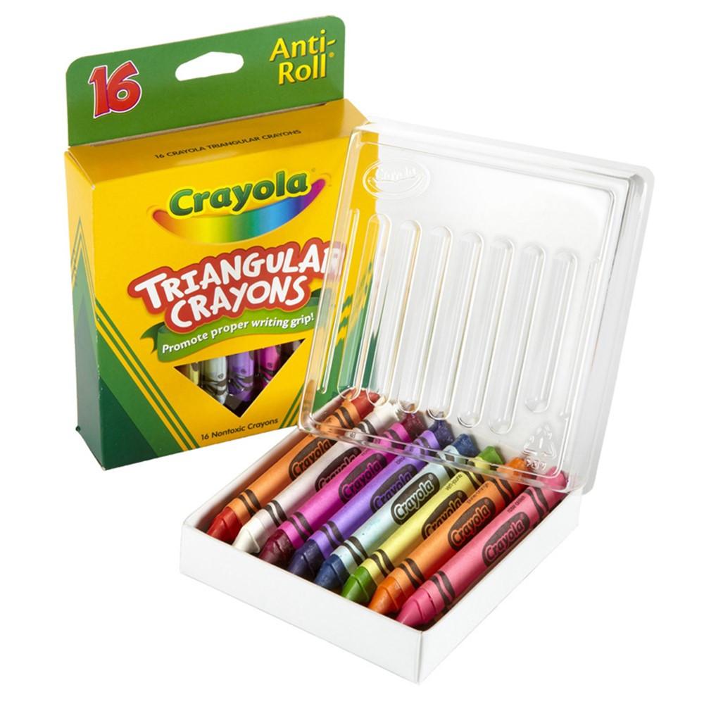 BIN524016 - Crayola Triangular Crayons 16 Count in Crayons