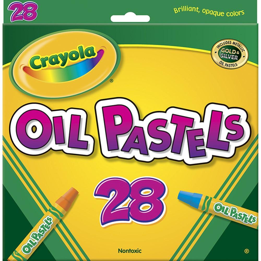 BIN524628 - Crayola Oil Pastels 28 Color Set in Pastels