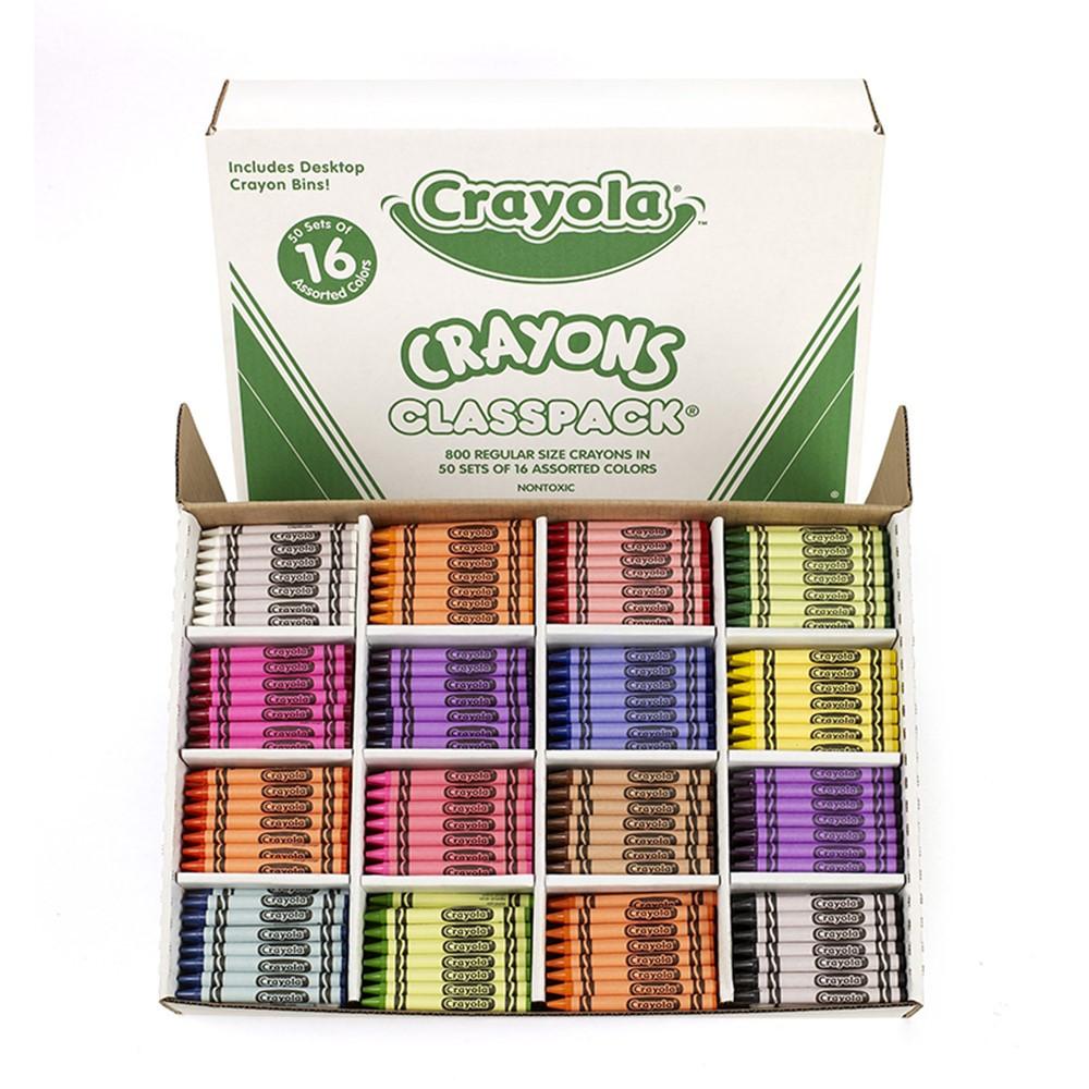 BIN528016 - Crayola Crayons Classpacks 16 Color Reg Size 800 Crayons in Crayons