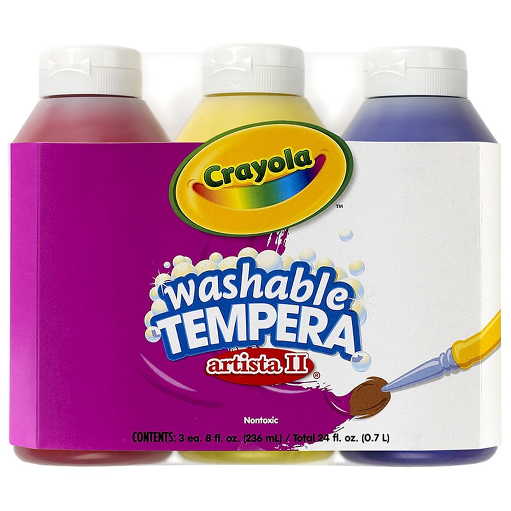 BIN543181 - Artista Ii Tempera 3Ct 8Oz Primary Color Set Washable Paint in Paint