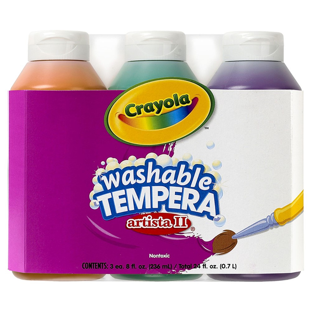 BIN543182 - Artista Ii Tempera 3 8Oz Secondary Color Set Washable Paint in Paint