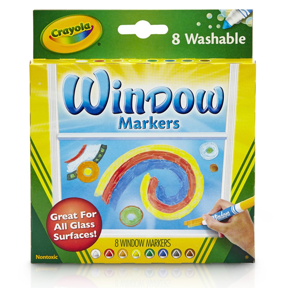 BIN588165 - Crayola 8Ct Washable Window Markers in Markers