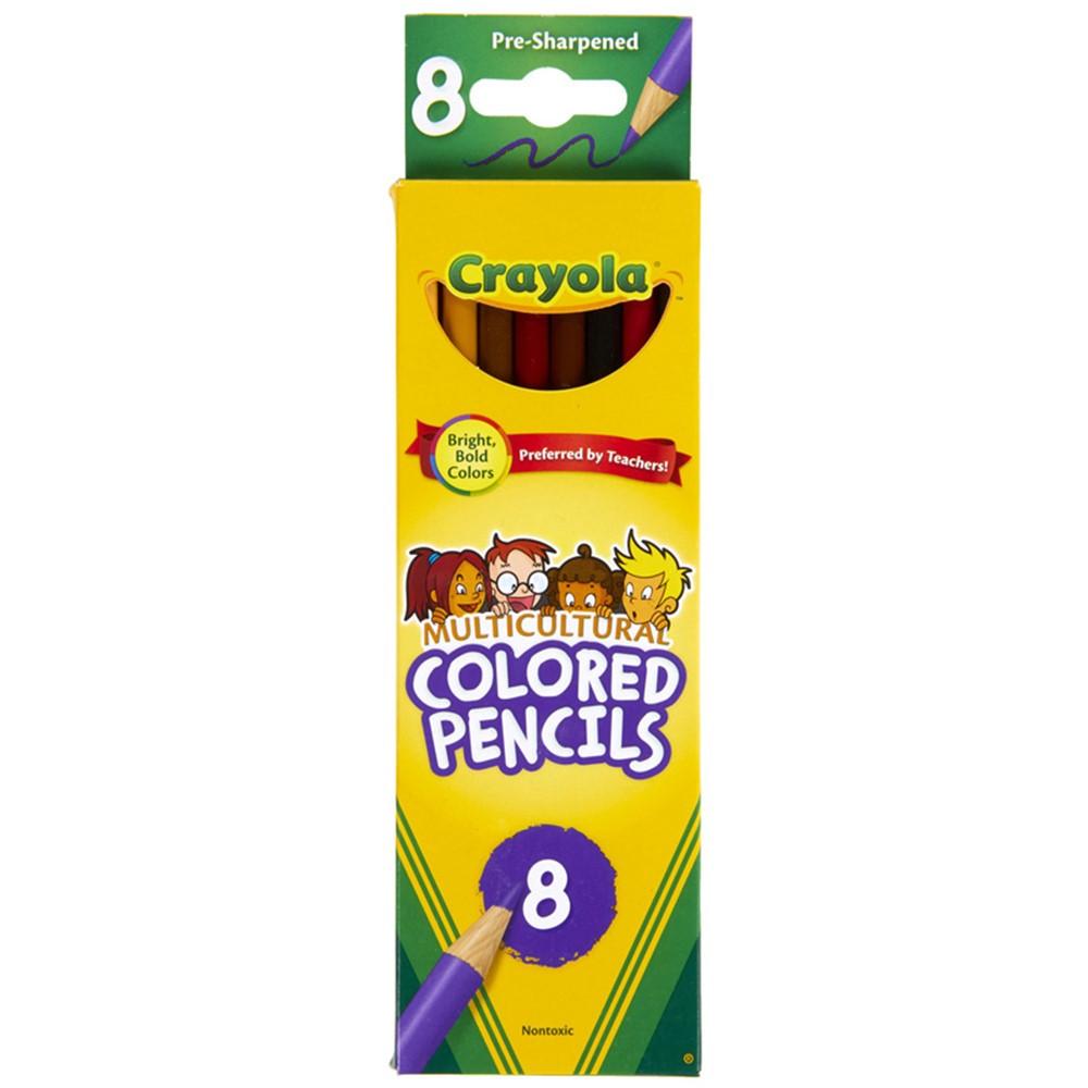 BIN684208 - Crayola Multicultural 8 Ct Colored Pencils in Colored Pencils