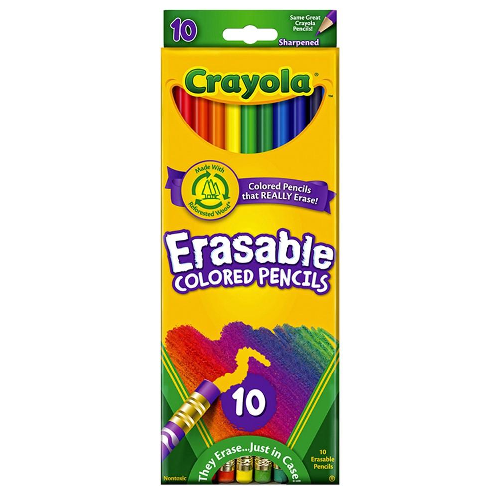 BIN684410 - Erasable Colored Pencils 10 Color Set in Colored Pencils