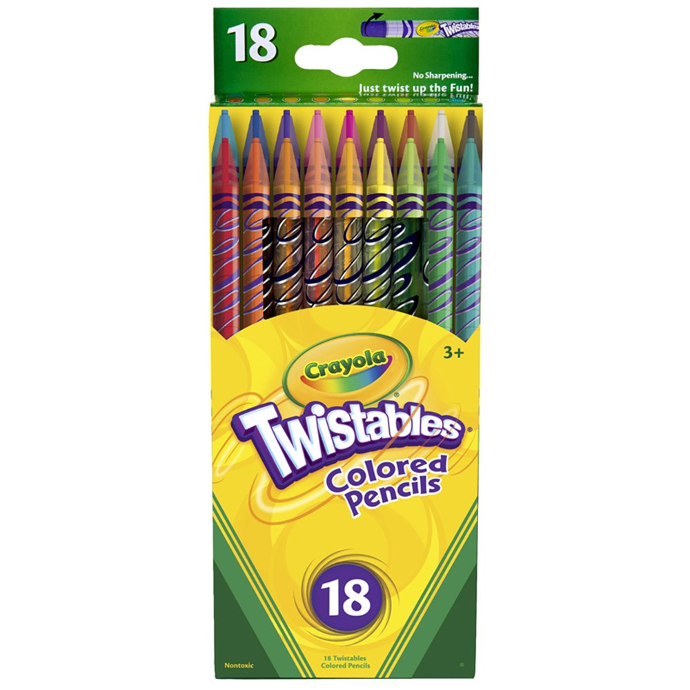 BIN687418 - Crayola Twistables 18 Ct Colored Pencils in Colored Pencils