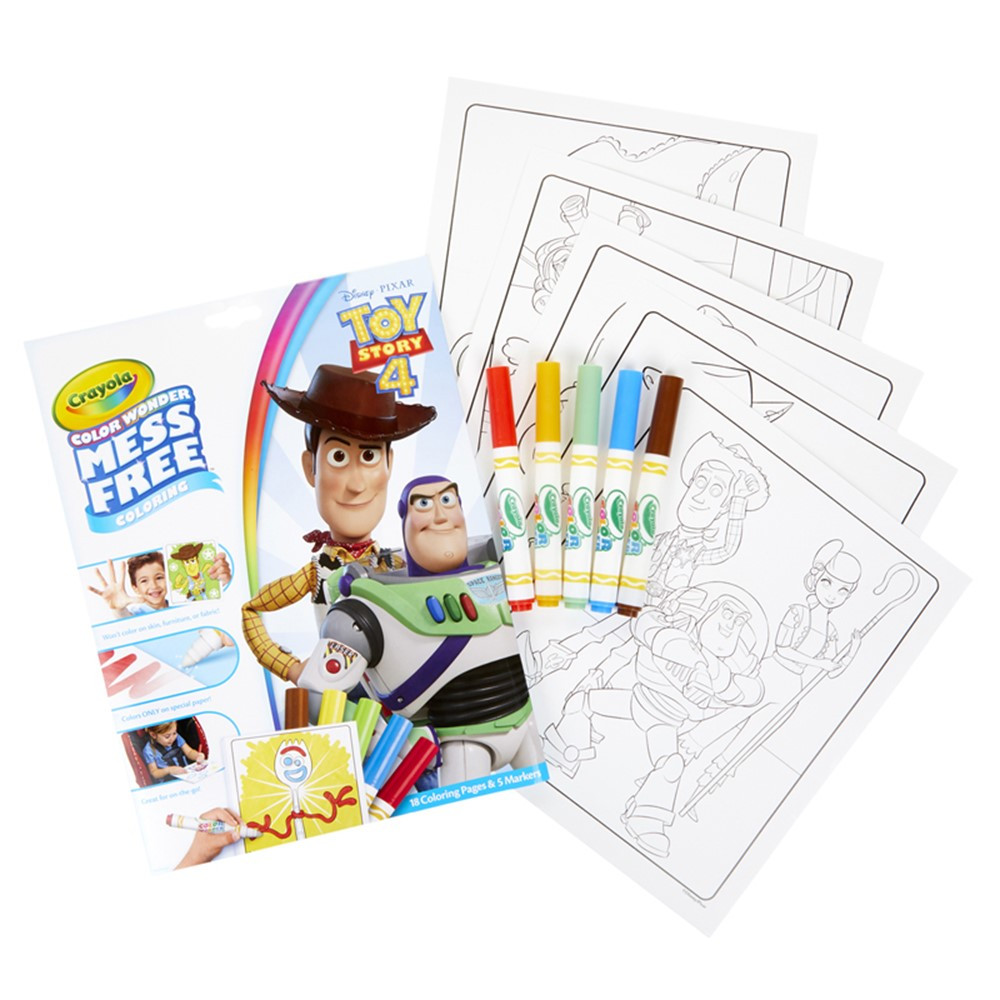 Color Wonder Mess Free Coloring Pad Markers Toy Story 4 Bin757008 Crayola Llc