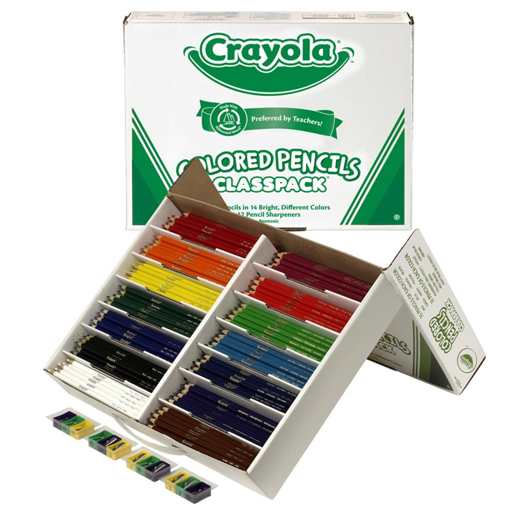 Crayola Colored Pencils 462 Ct Classpack 14 Colors - BIN8462 ...