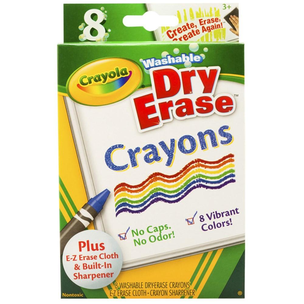 BIN985200 - Crayola Dry Erase Crayons 8 Count Washable in Crayons