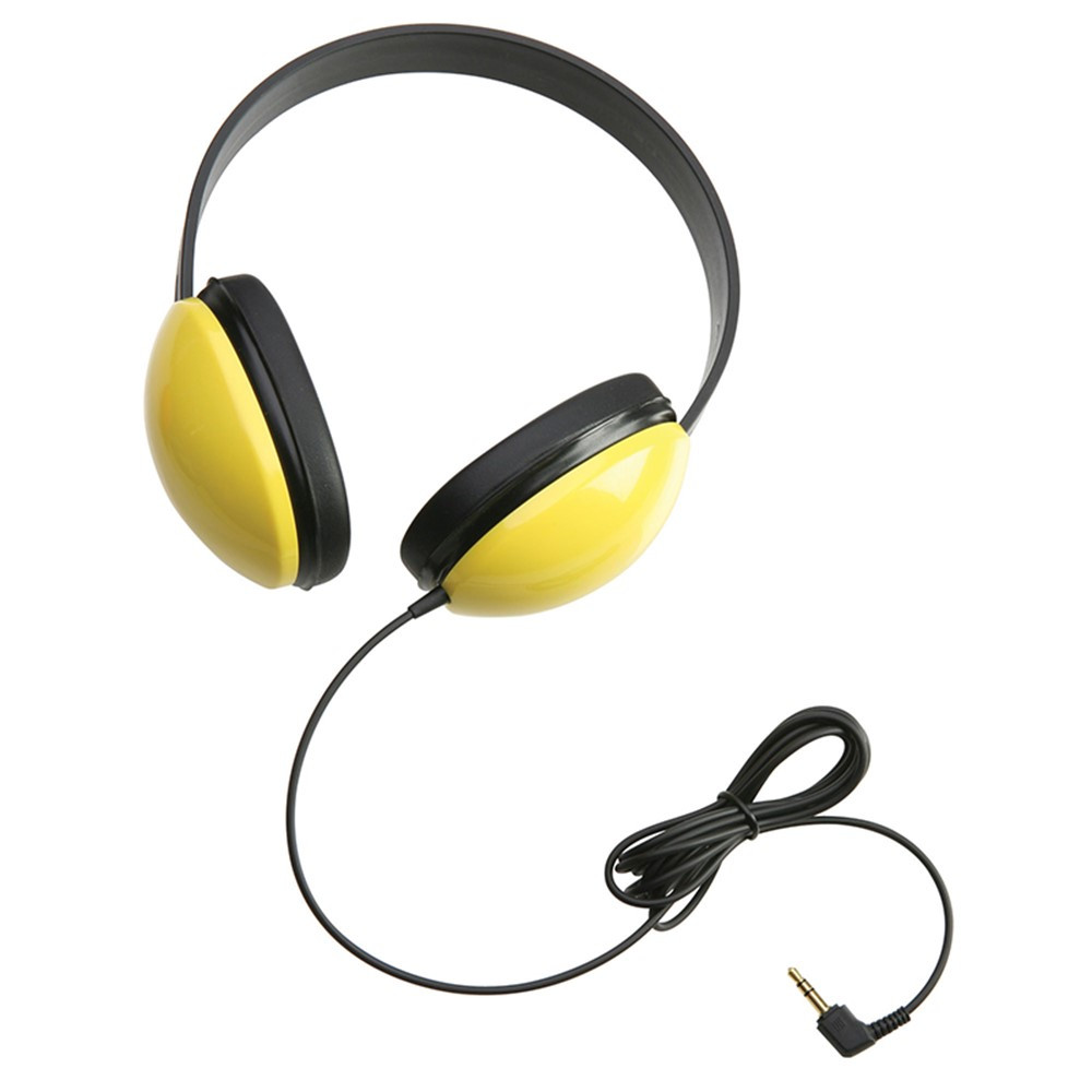 CAF2800YL - Listening First Stereo Headphones Yellow in Headphones