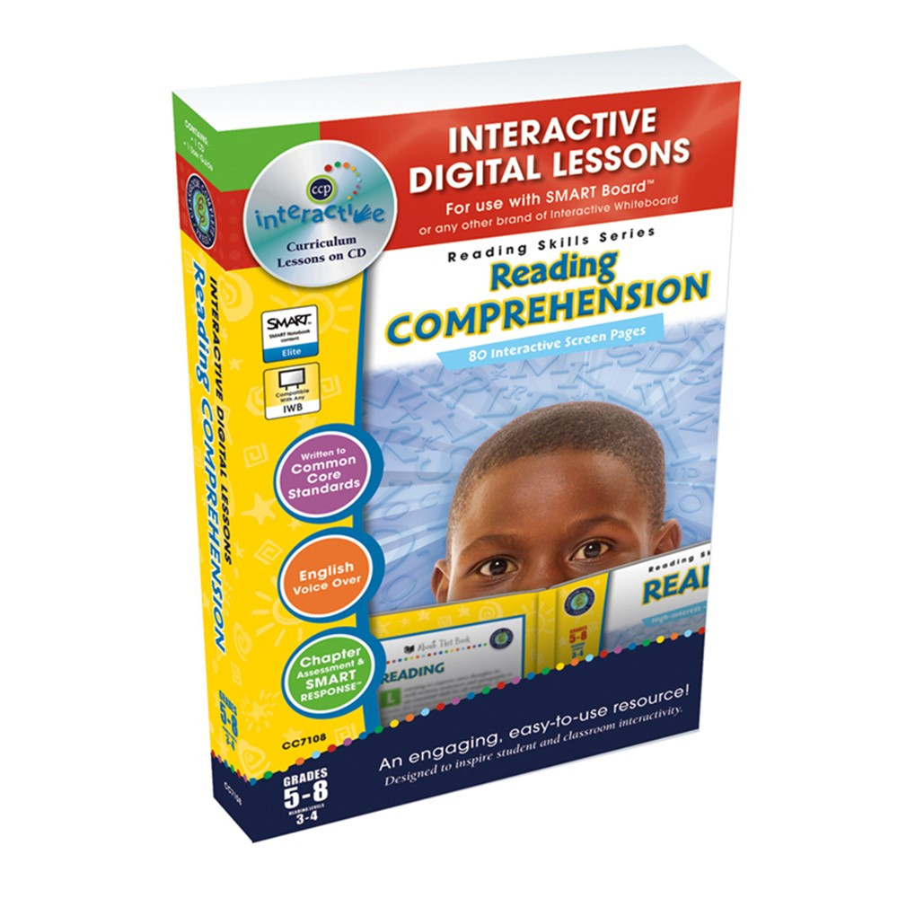 CCP7108 - Reading Comprehension Interactive Whiteboard Lessons in Language Arts