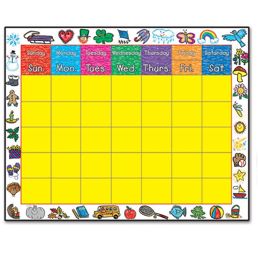 CD-0395 - Chart Calendar Kid-Drawn Border 22 X 28 in Calendars