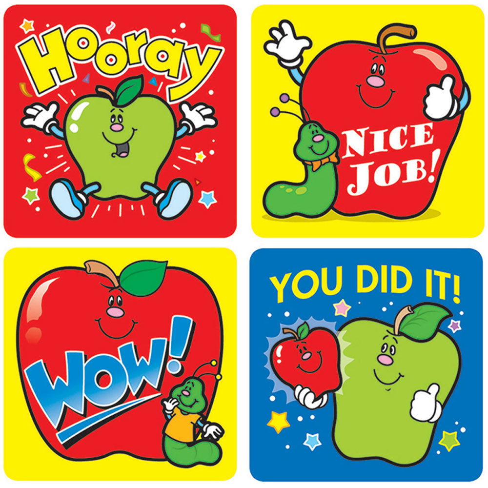 CD-0601 - Stickers Apples 120/Pk Acid & Lignin Free in Stickers