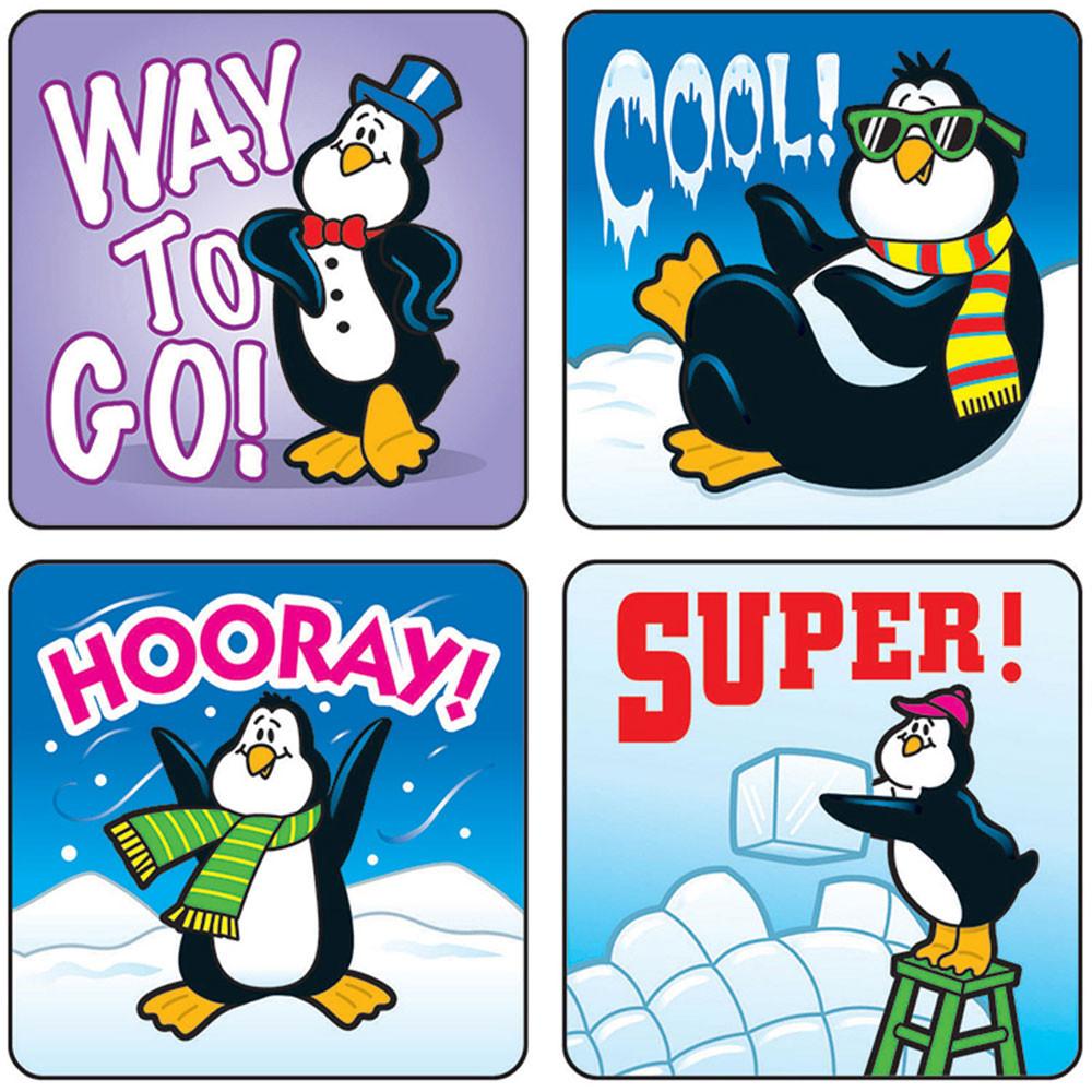 CD-0624 - Stickers Penguins 120/Pk Acid & Lignin Free in Holiday/seasonal