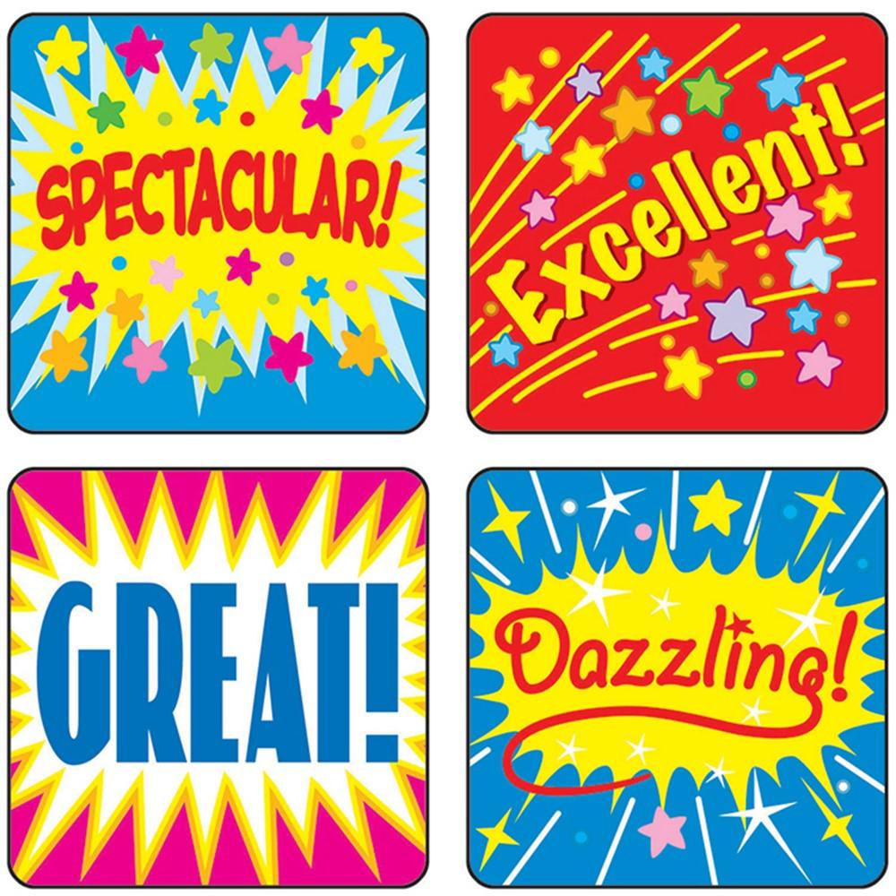 CD-0625 - Stickers Positive Words 120/Pk Acid & Lignin Free in Motivational