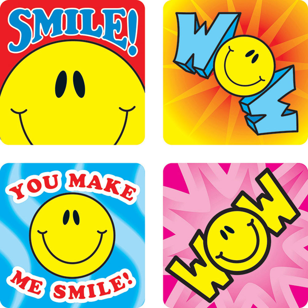CD-0632 - Stickers Smile Fun 120/Pk Acid & Lignin Free in Stickers