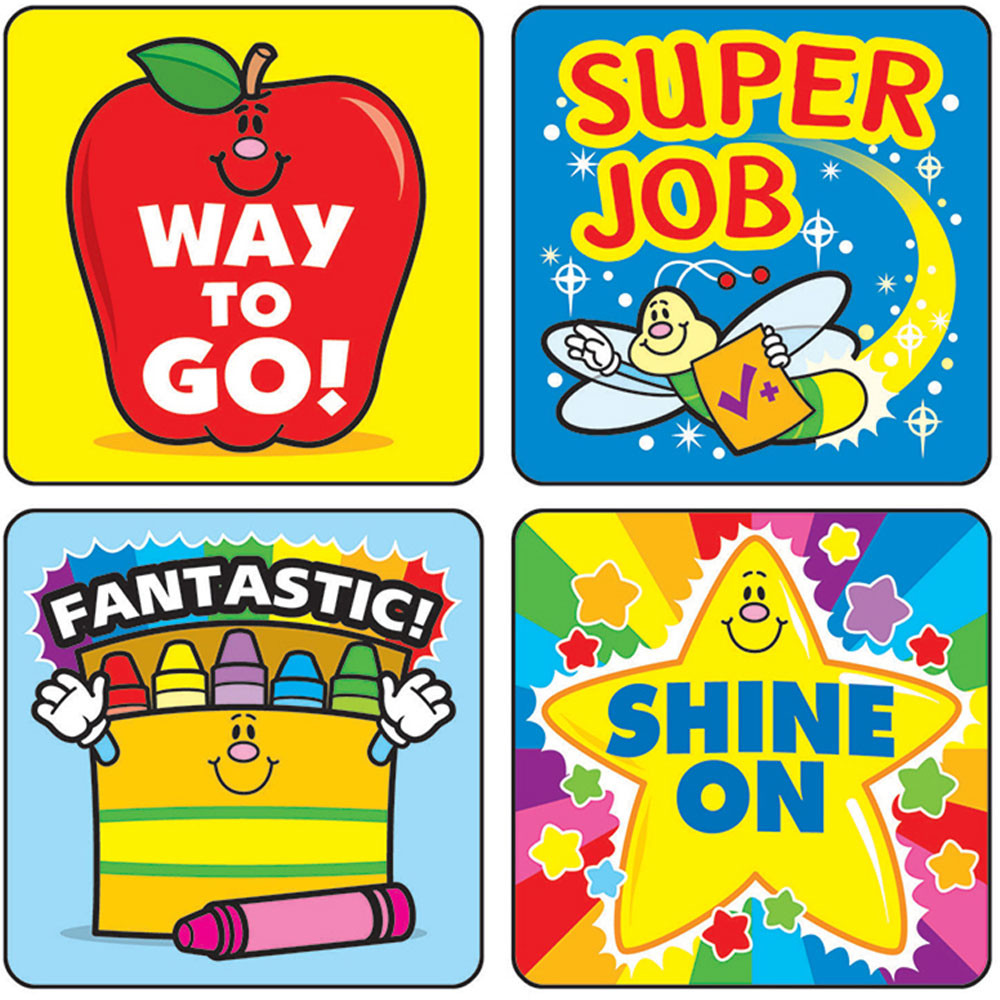CD-0648 - Stickers Winning Words 120/Pk Acid Lignin Free in Motivational