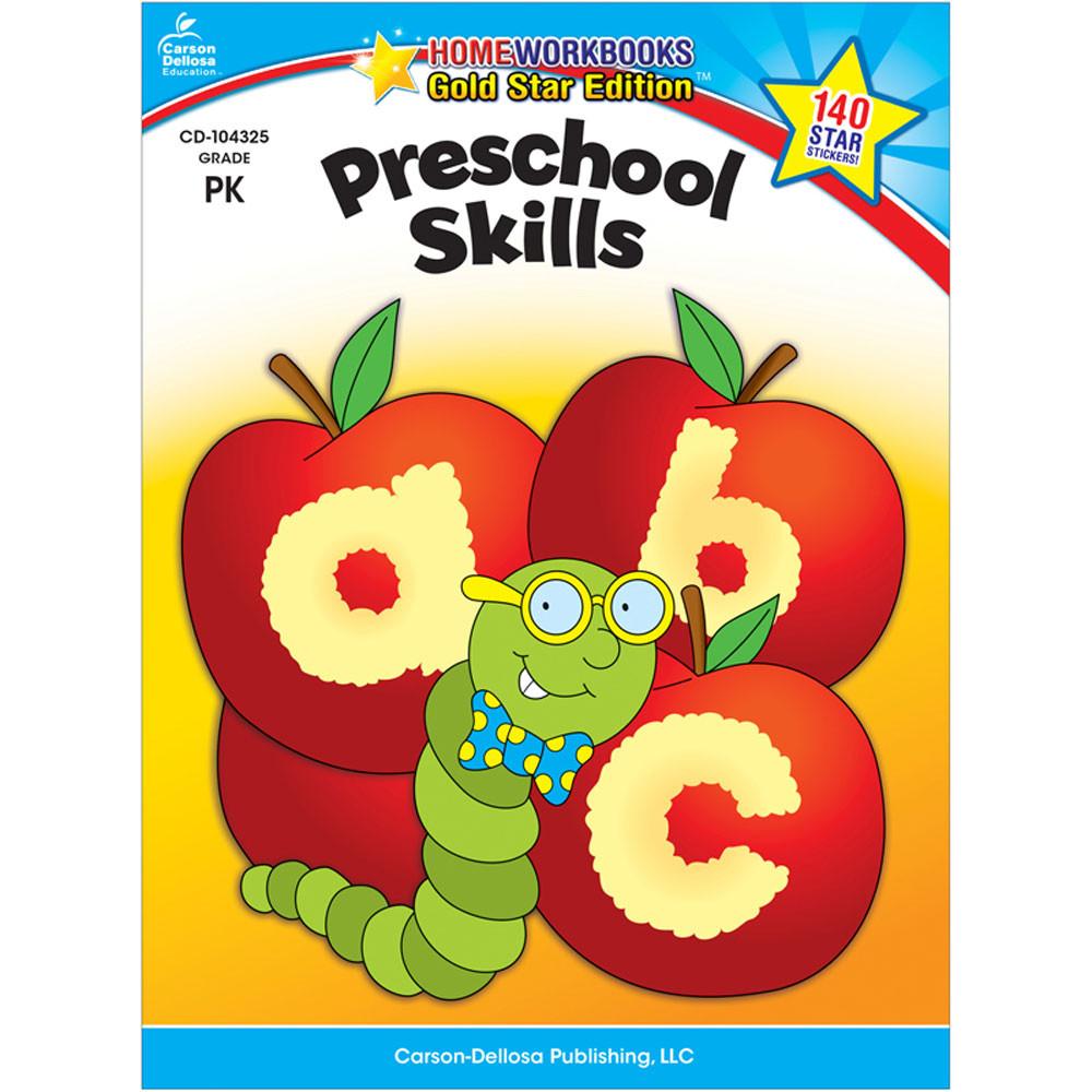 CD-104325 - Preschool Skills Home Workbook Gr Pk in Skill Builders