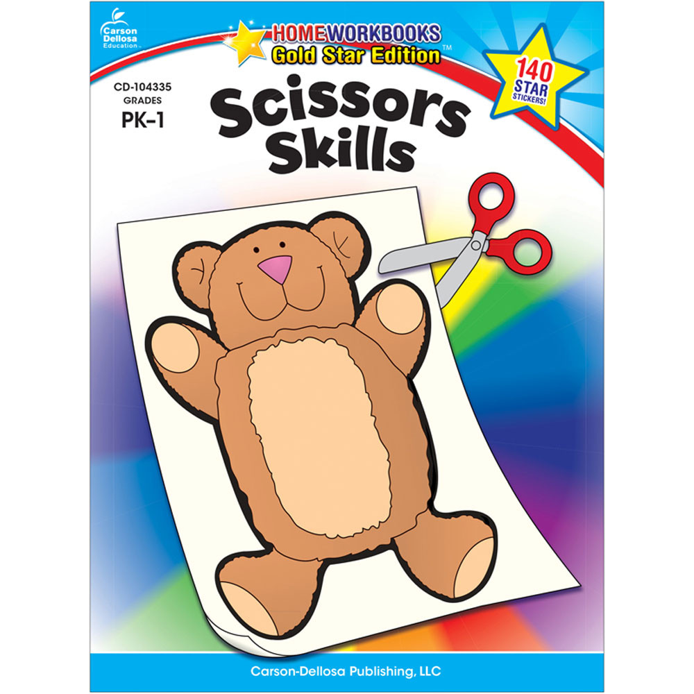 CD-104335 - Scissors Skills Home Workbook Gr Pk-1 in Skill Builders