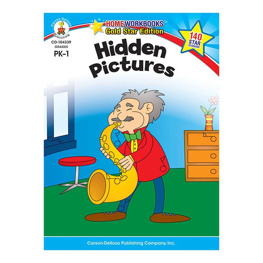 CD-104339 - Hidden Pictures Home Workbook Gr Pk-1 in Skill Builders
