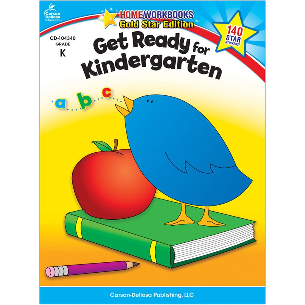 CD-104340 - Get Ready For Kindergarten Home Workbook Gr K in Skill Builders