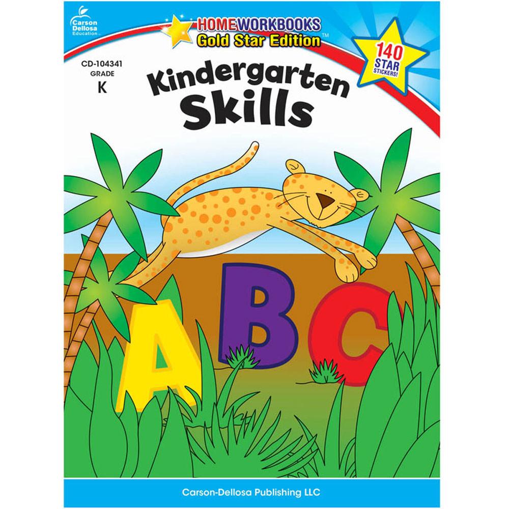 CD-104341 - Kindergarten Skills Home Workbook Gr K in Skill Builders