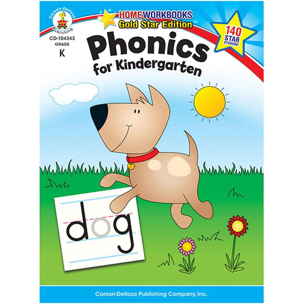 CD-104343 - Phonics For Kindergarten Home Workbook Gr K in Phonics