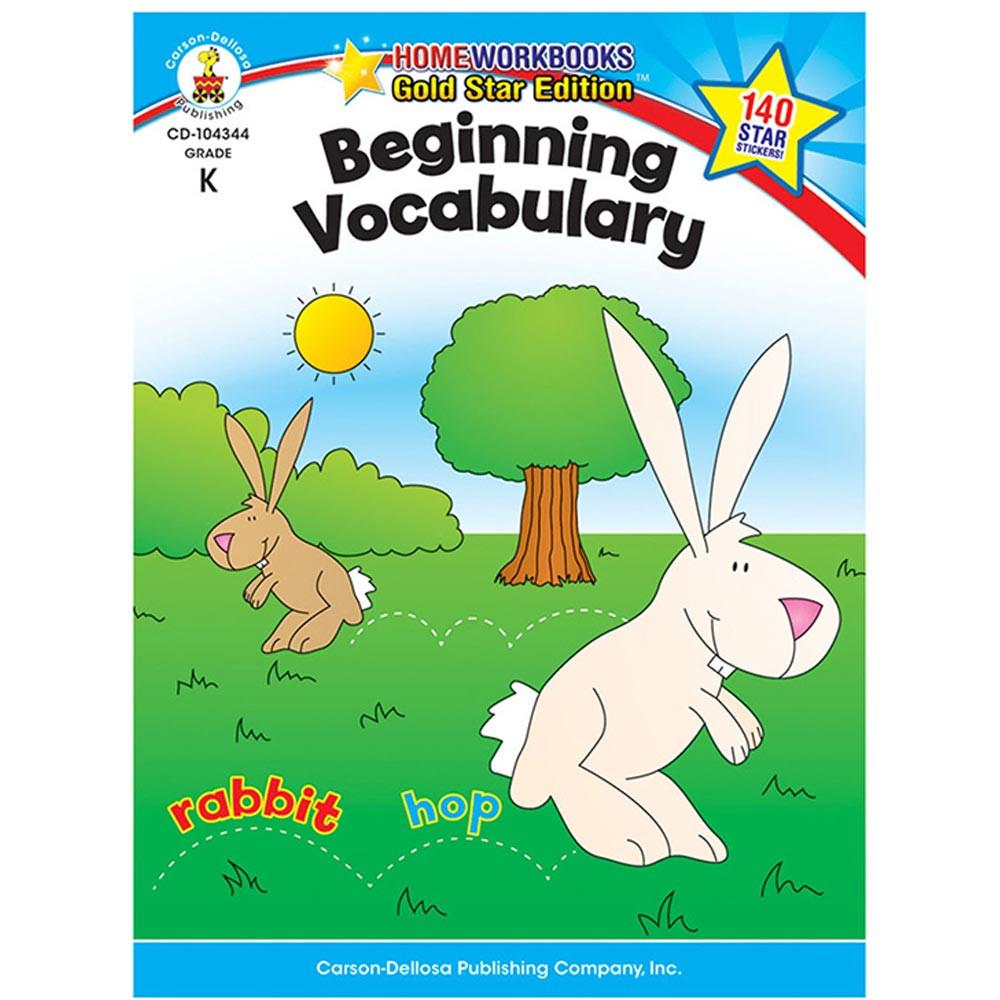 CD-104344 - Beginning Vocabulary Home Workbook Gr K in Vocabulary Skills
