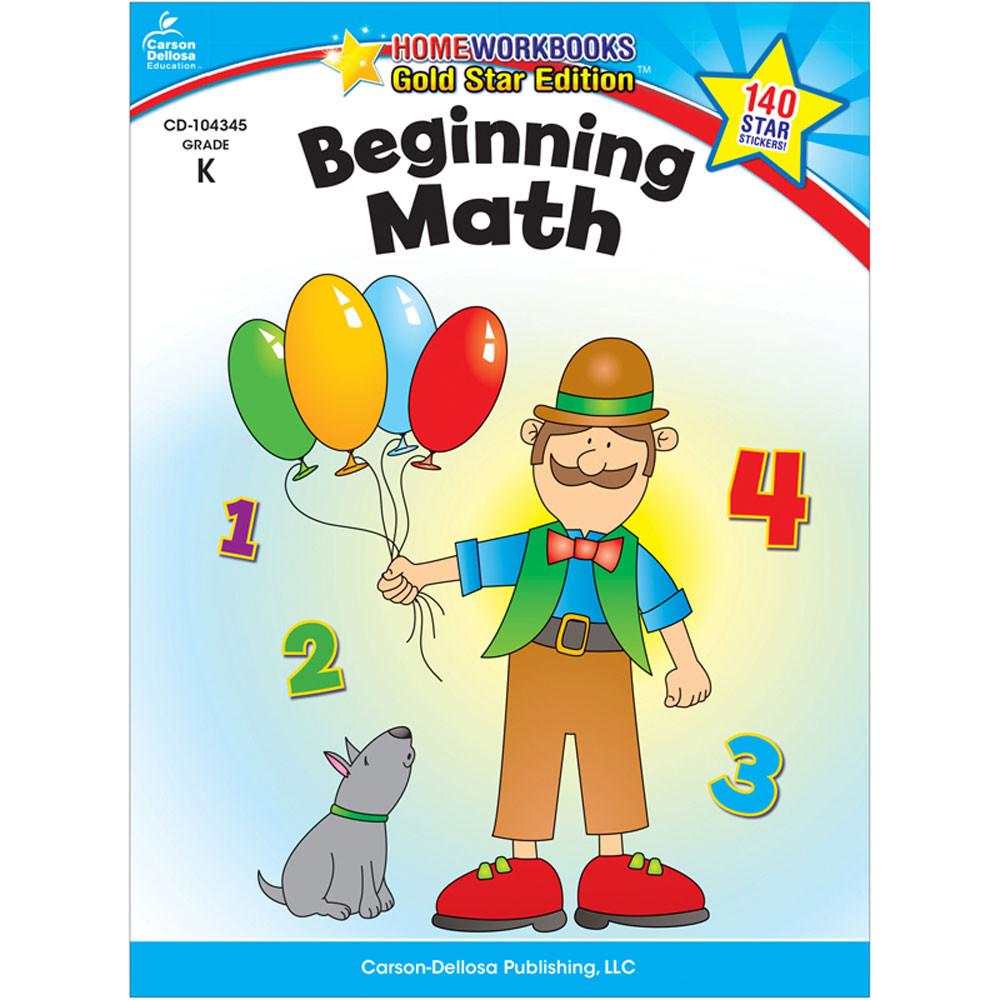 CD-104345 - Beginning Math Home Workbook Gr K in Activity Books