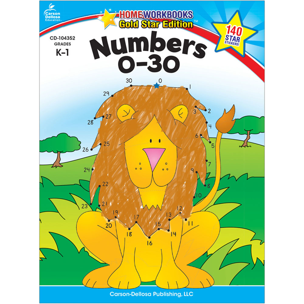 CD-104352 - Numbers 0-30 Home Workbook Gr K-1 in Numeration