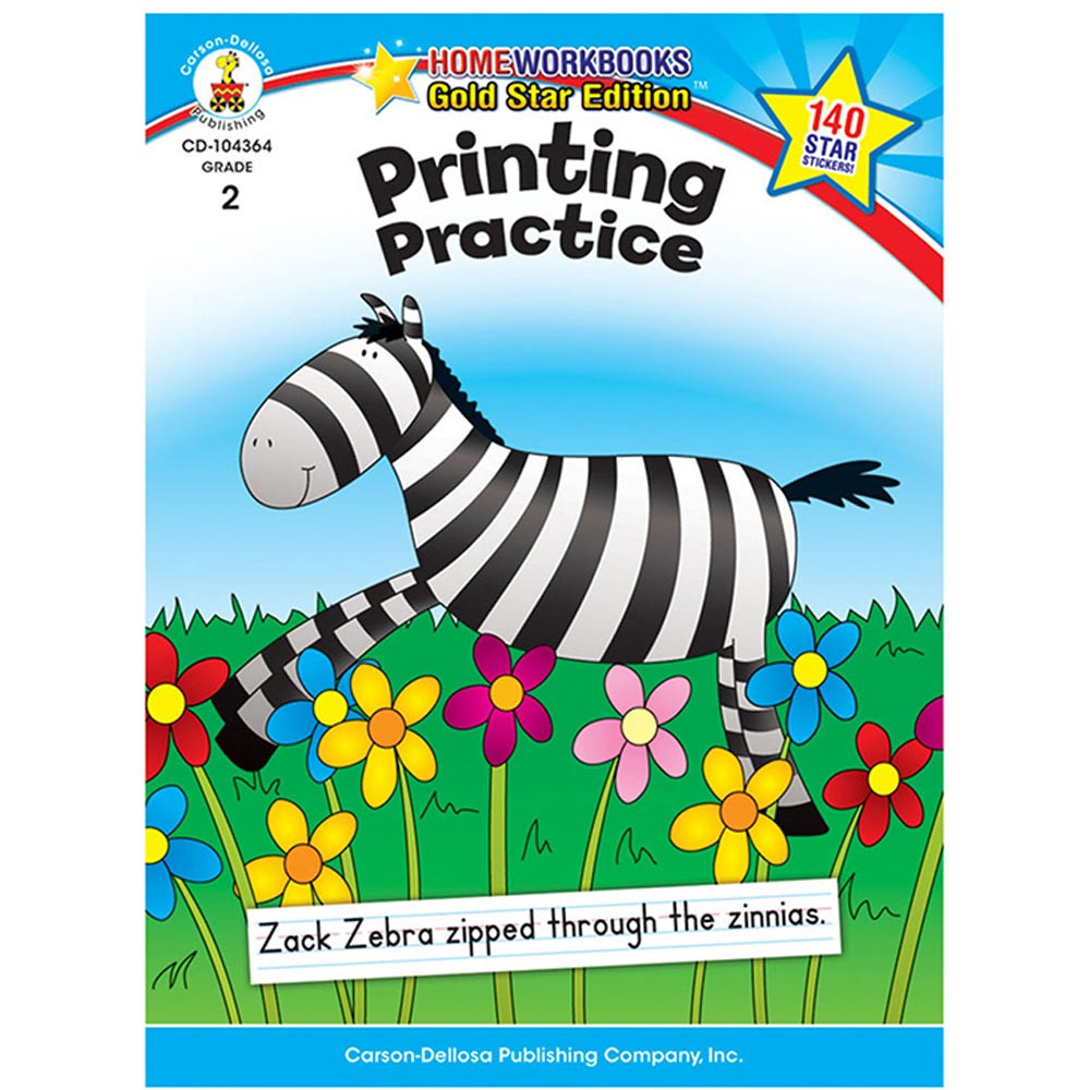 CD-104364 - Printing Practice Home Workbook Gr 2 in Handwriting Skills