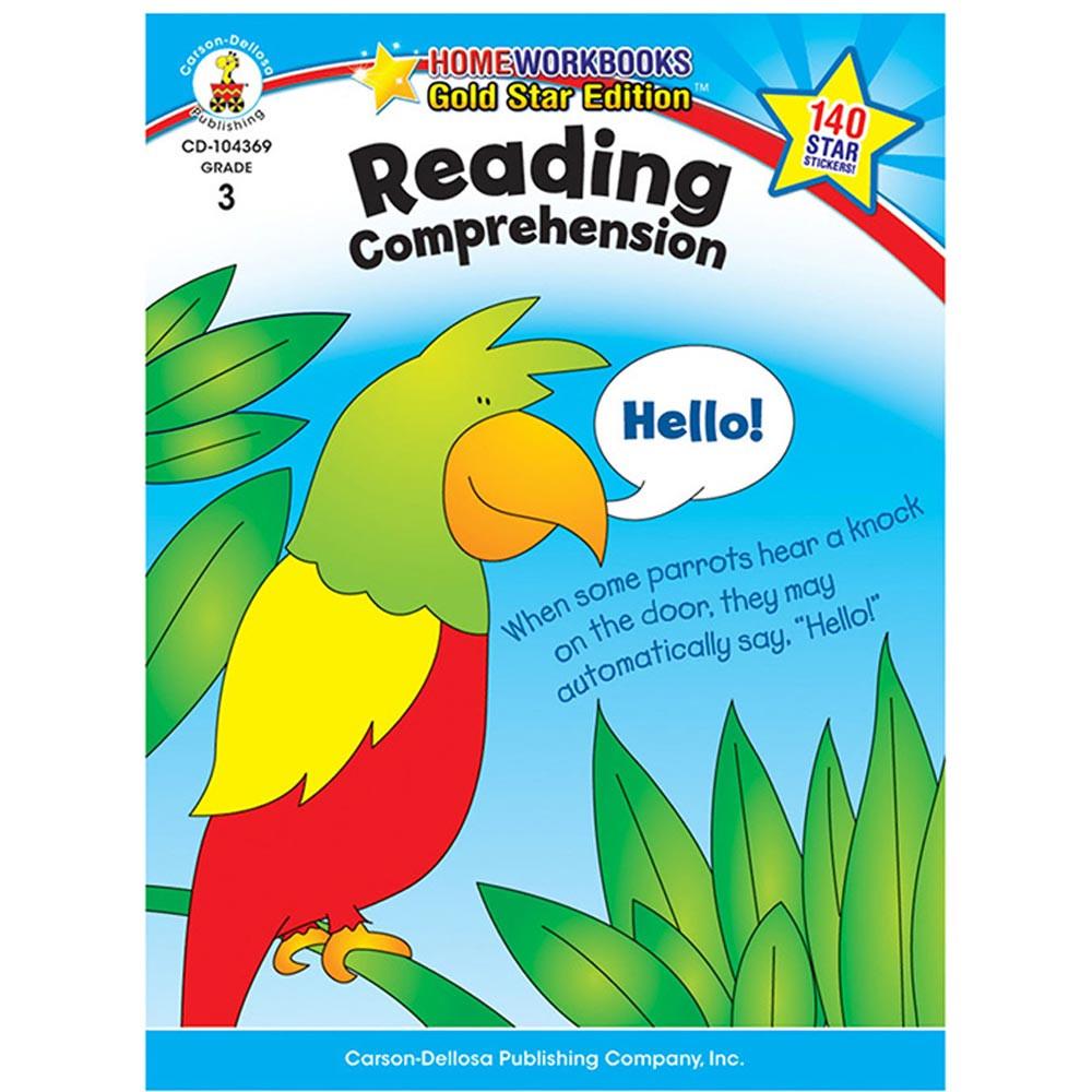 CD-104369 - Reading Comprehension Home Workbook Gr 3 in Comprehension