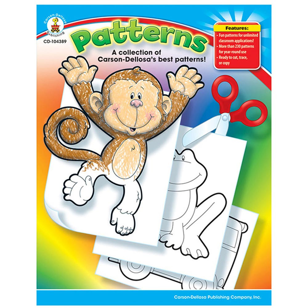 CD-104389 - Patterns Book Gr Pk-5 in Patterning