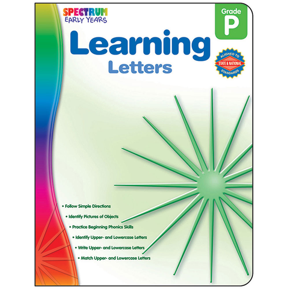 CD-104456 - Readiness Learning Letters Spectrum Early Years in Language Arts